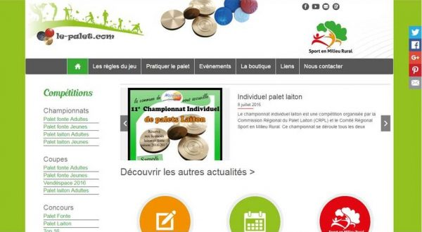 capture ecran site internet le-palet
