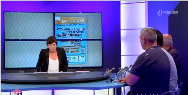 Le palet à l'honneur sur TV Vendée !