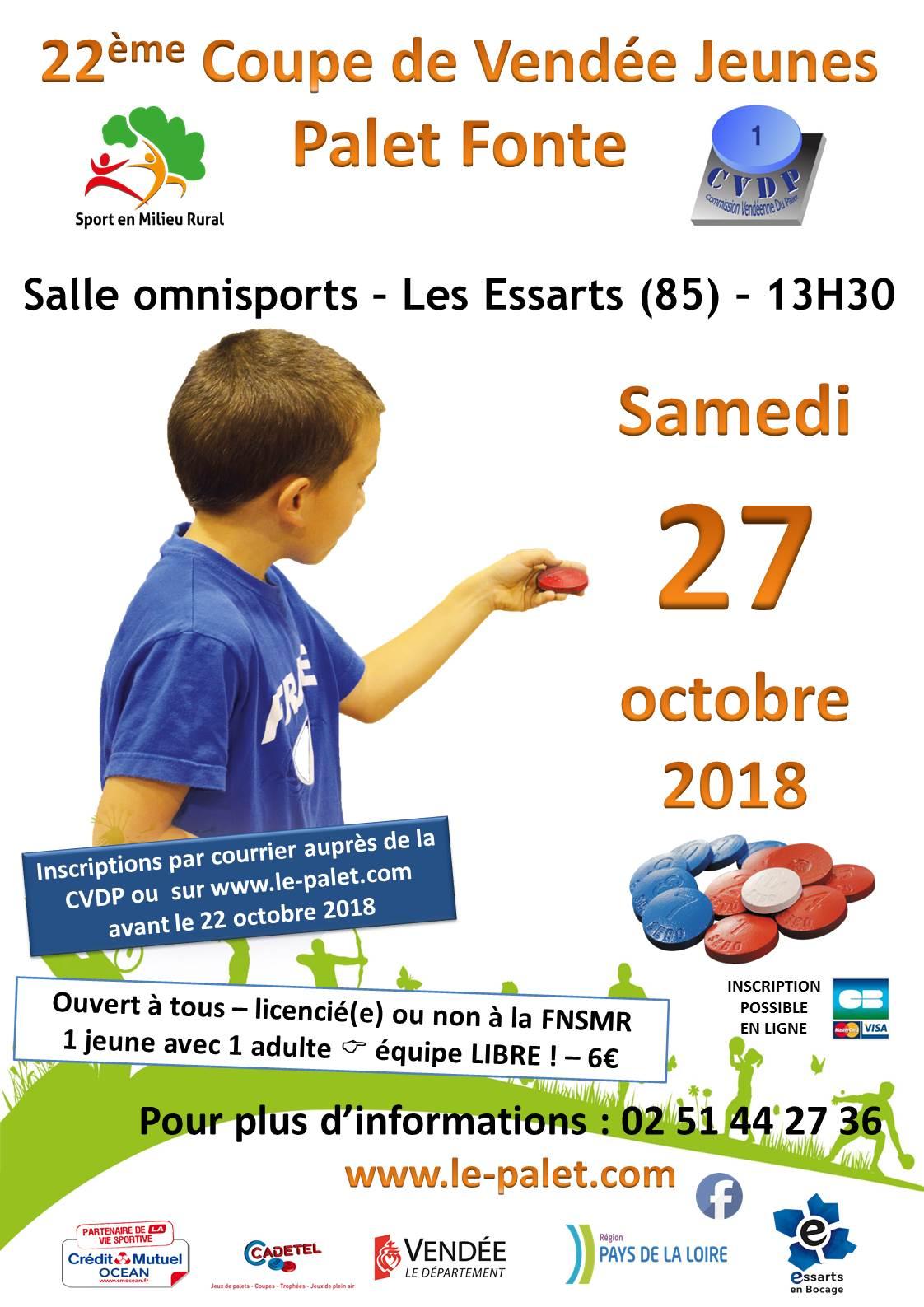 Coupe de Vendée Jeunes 2018 ! Inscriptions