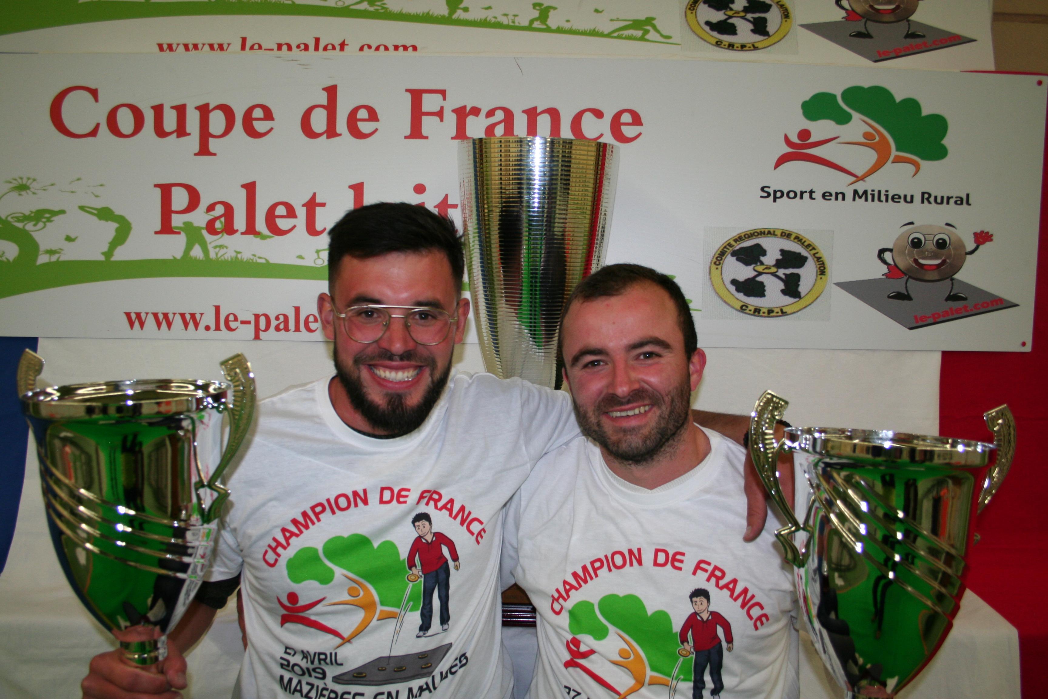 François BOSSOREILLE – Régis REDUREAU champions de France !