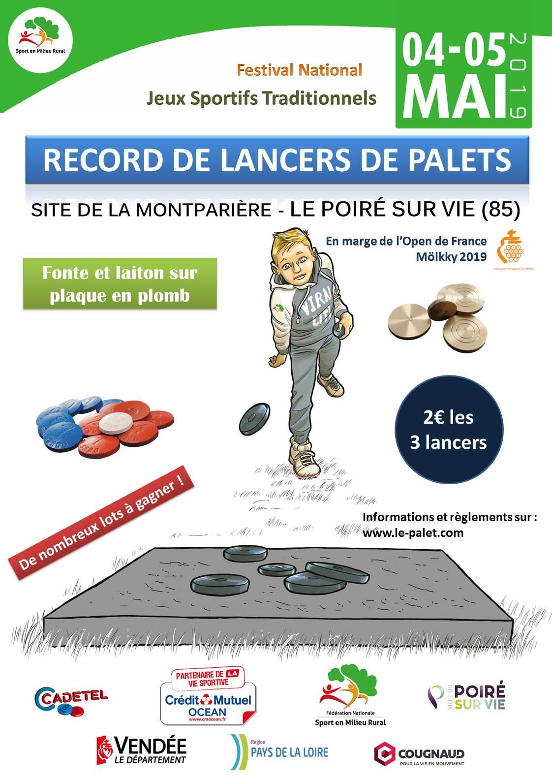 Record Lancers de Palets – Festival Jeux Traditionnels