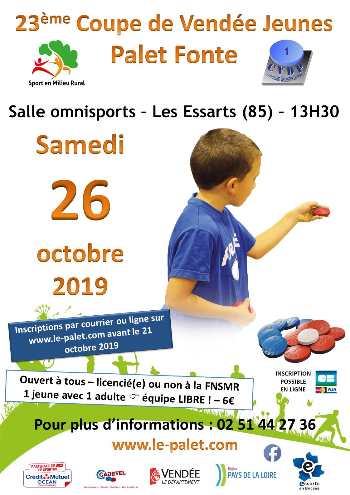 Coupe de Vendée Jeunes 2019 – Inscriptions