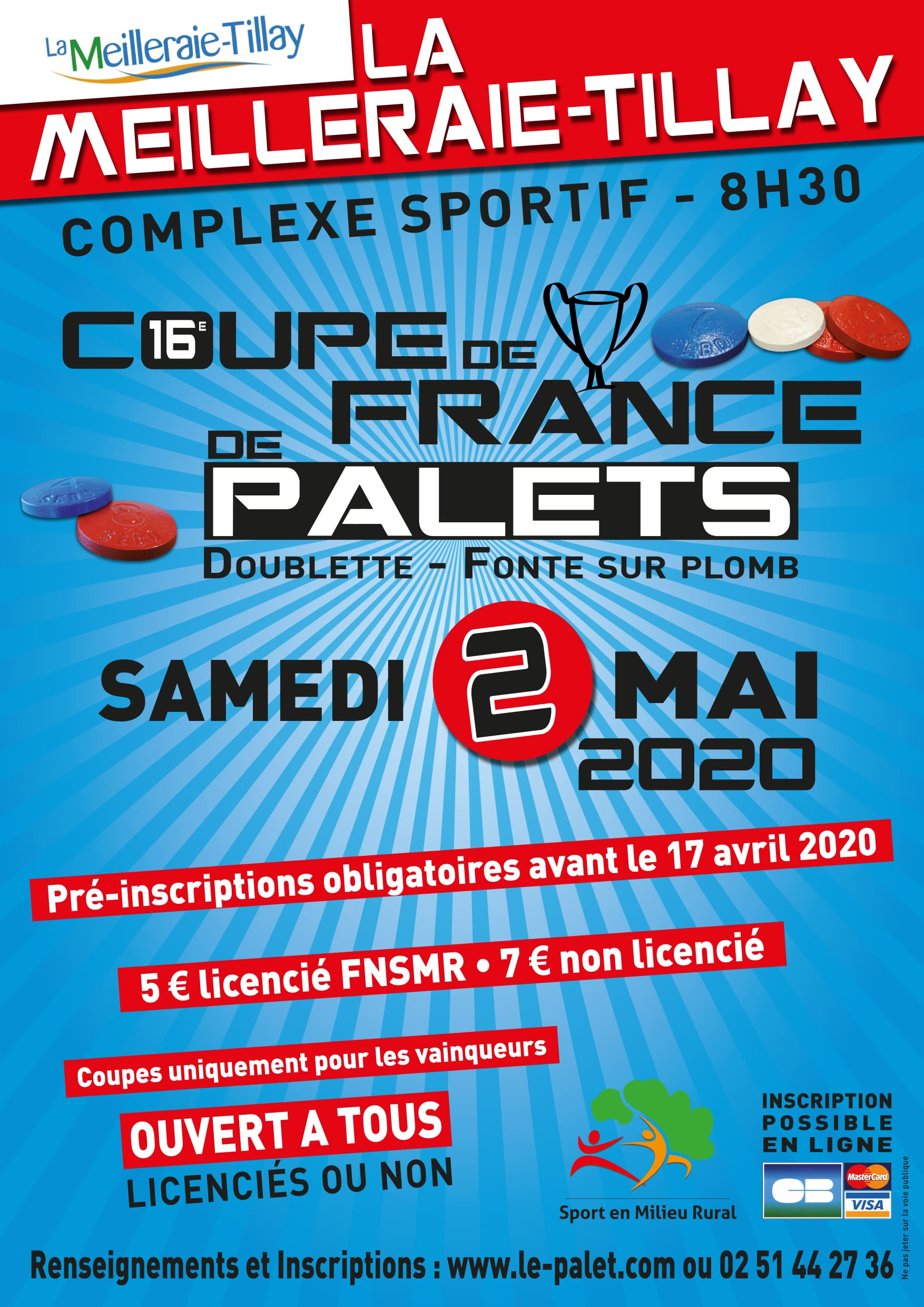 Coupe de France Palet fonte 2020 – ANNULATION