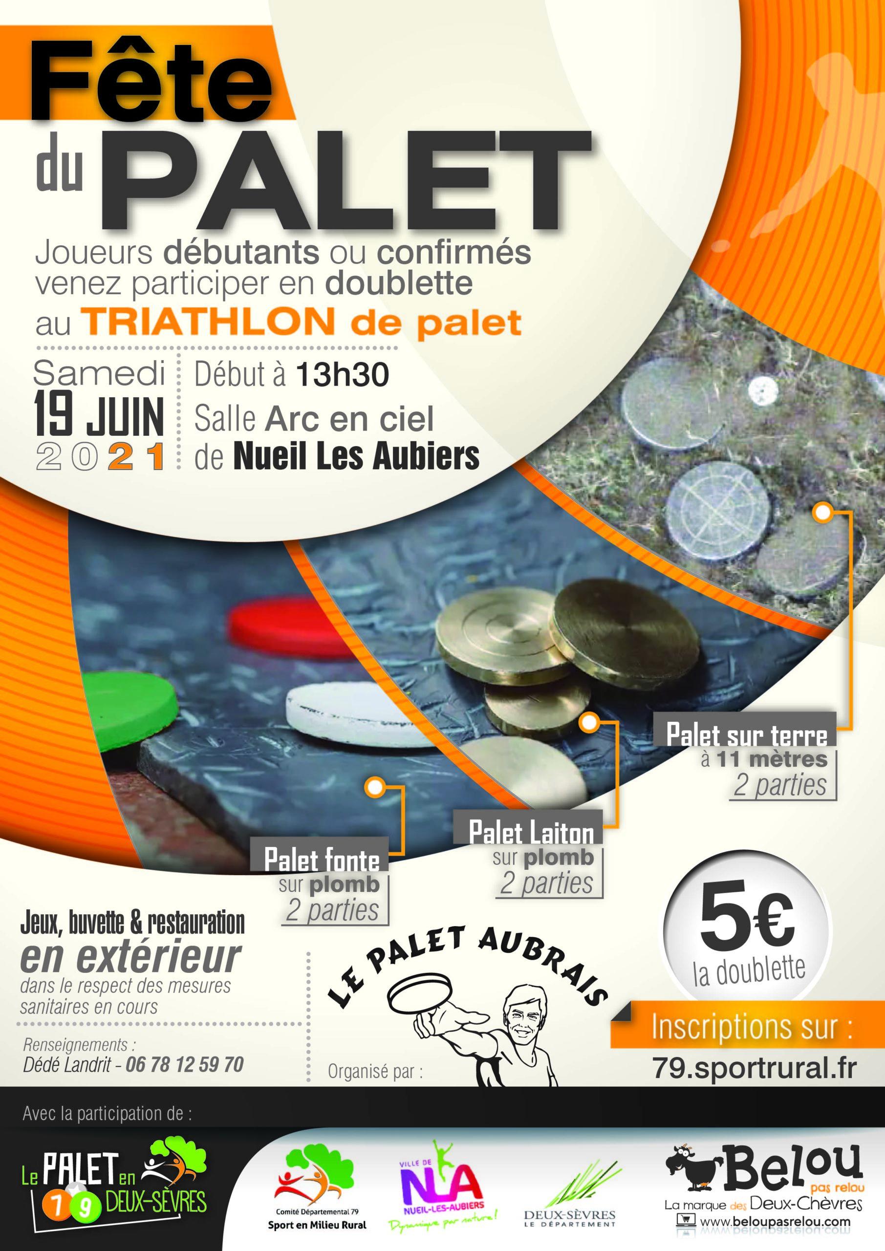 Fête du Palet en Deux-Sèvres – 19 Juin 2021