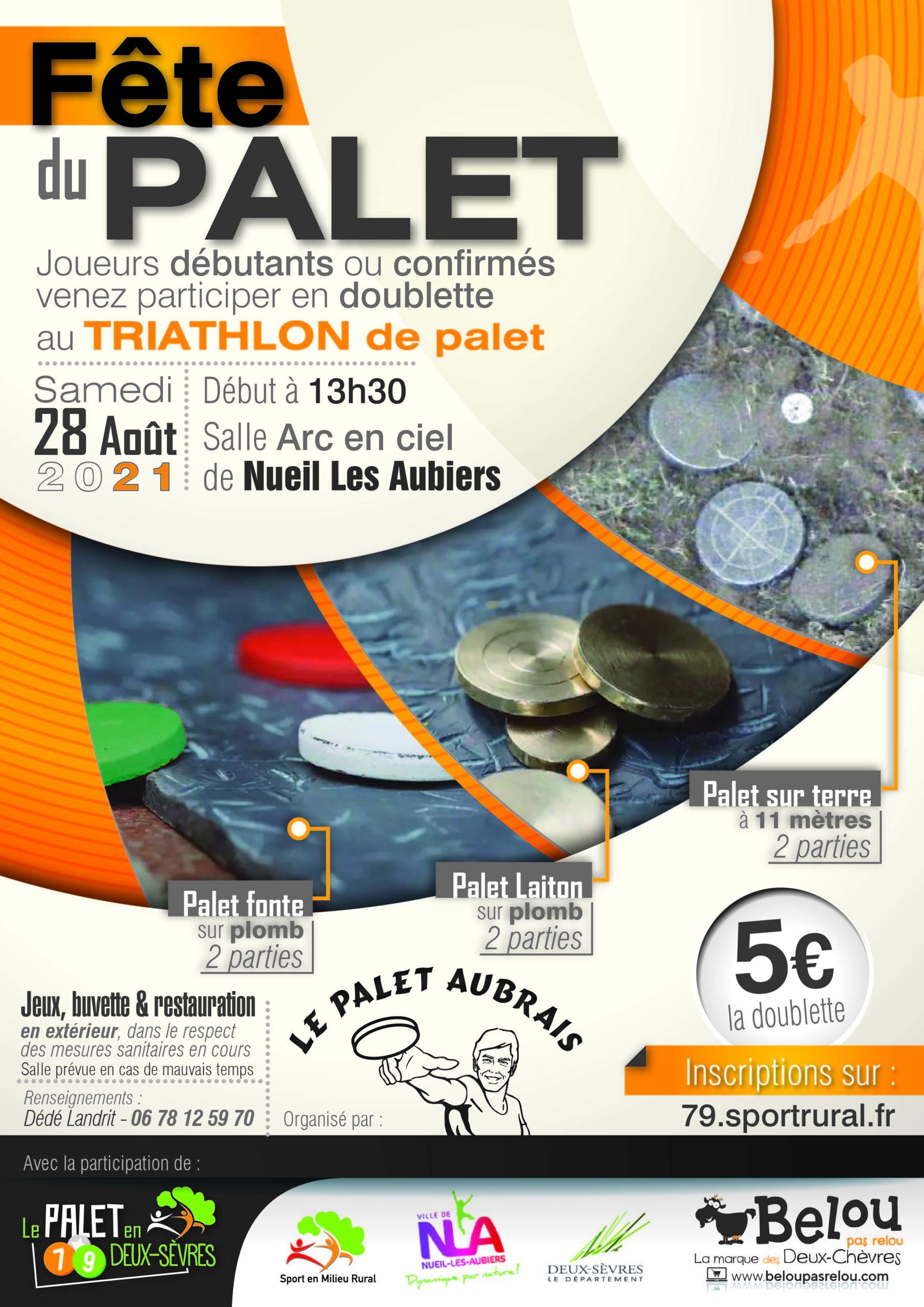 Fête du Palet en Deux-Sèvres – 28 août 2021